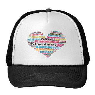 Heart Word Tag Cloud Trucker Hat