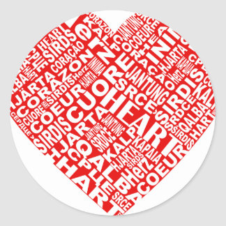 Heart_Words_2.png Classic Round Sticker