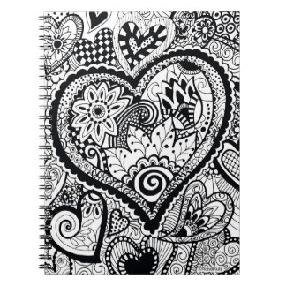 HeART Work Color Your Own Zendoodle Notebook