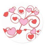 Heart Works Classic Round Sticker