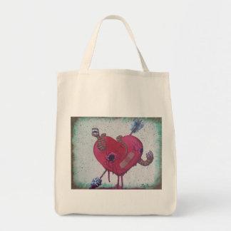 Heart worms shopping bag