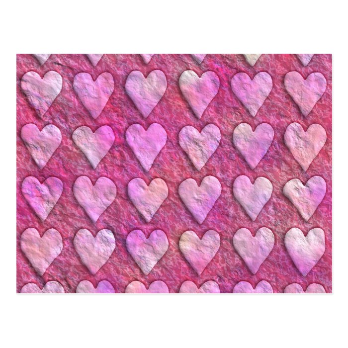 Heart Wrapping Paper Postcard