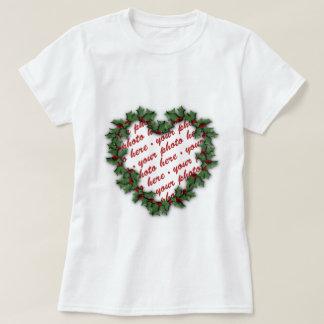 Heart Wreath Photo Frame T-Shirt