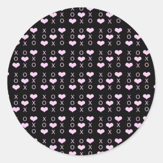 Heart xo Pattern XOXO Classic Round Sticker