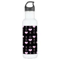 heart XOXO pattern Stainless Steel Water Bottle