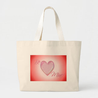 HEART XXX & OOO BE MINE by SHARON SHARPE Large Tote Bag