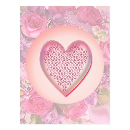 HEART XXX & OOO by SHARON SHARPE Postcard