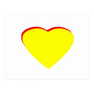 Heart Yellow Red Wedding Invitation The MUSEUM Zaz Postcard