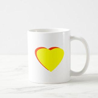 Heart Yellow RedOrange The MUSEUM Zazzle Gifts Coffee Mug