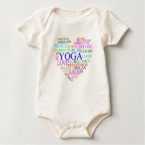 Heart Yoga - Organic Yoga Baby Clothes Baby Bodysuit