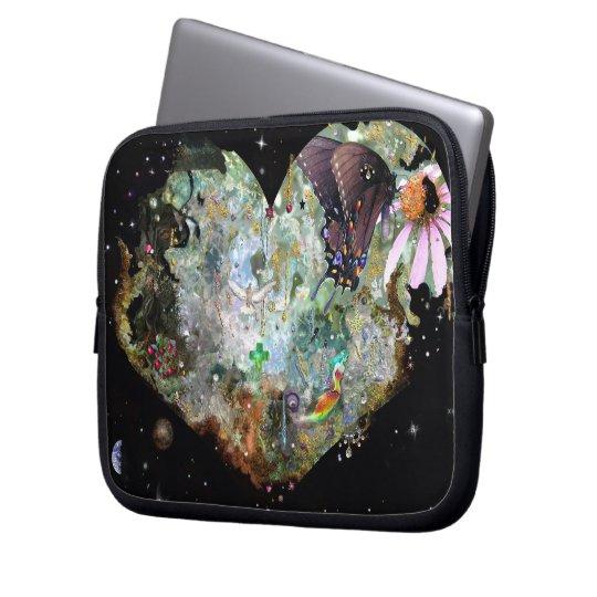 Heart your world 2 computer sleeve