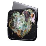 Heart your world 2 laptop computer sleeve