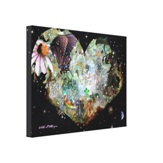 Heart your World! Canvas Print