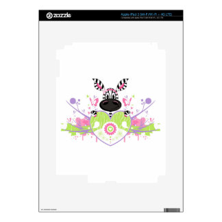 Heart Zebra Girl iPad 3 Skins