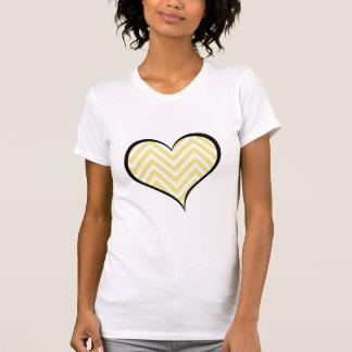 Heart, Zigzag (Chevron), Stripes, Lines - Yellow Tees