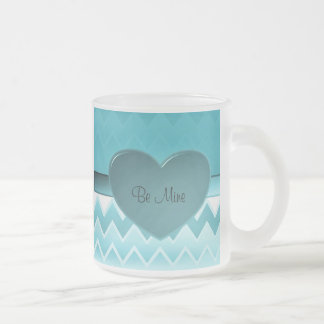Heart zigzag-Teal Coffee Mugs