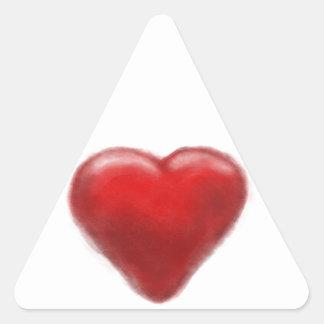 heart zone triangle sticker