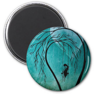 Heartache and Poetry 13... 2 Inch Round Magnet