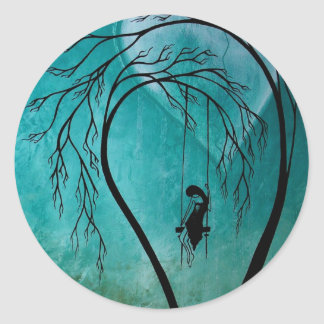 Heartache and Poetry 13... Classic Round Sticker
