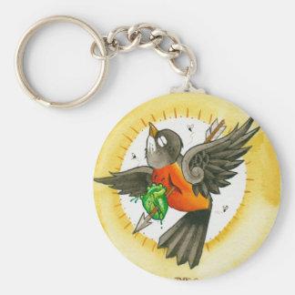 """""""Heartache"""" Basic Round Button Keychain"""