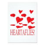Heartaflies Invitación 12,7 X 17,8 Cm