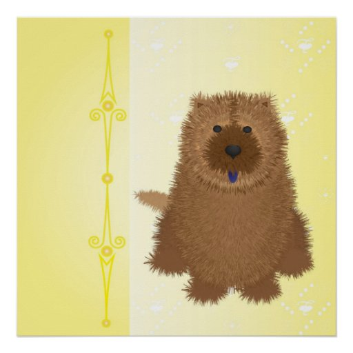 heartbackground3-yellow-chow1 poster