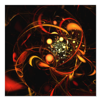 Heartbeat Abstract Art Card