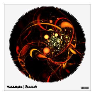 Heartbeat Abstract Art Circle Wall Decal
