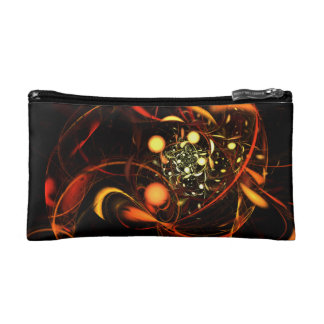 Heartbeat Abstract Art Cosmetic Bag
