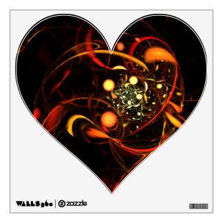 Heartbeat Abstract Art Heart Wall Sticker