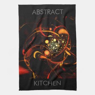 Heartbeat Abstract Art Kitchen Towel