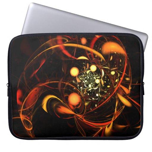Heartbeat Abstract Art Laptop Sleeve