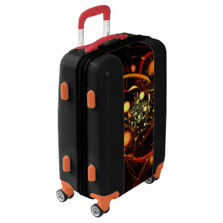 Heartbeat Abstract Art Luggage
