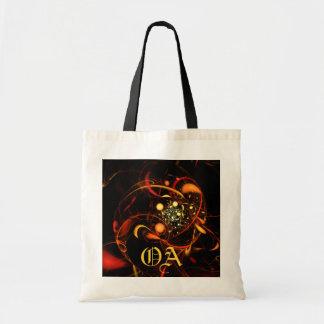 Heartbeat Abstract Art Monogram Bag