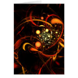 Heartbeat Abstract Art Note Card