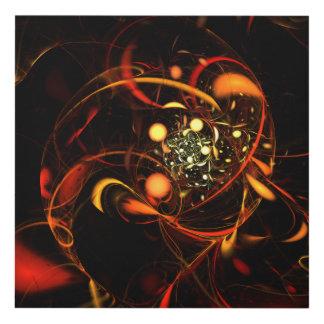 Heartbeat Abstract Art Panel Wall Art