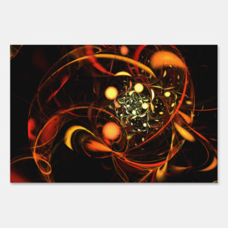 Heartbeat Abstract Art Sign