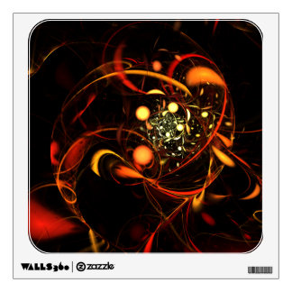 Heartbeat Abstract Art Square Wall Decal