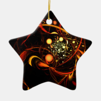 Heartbeat Abstract Art Star Ornament