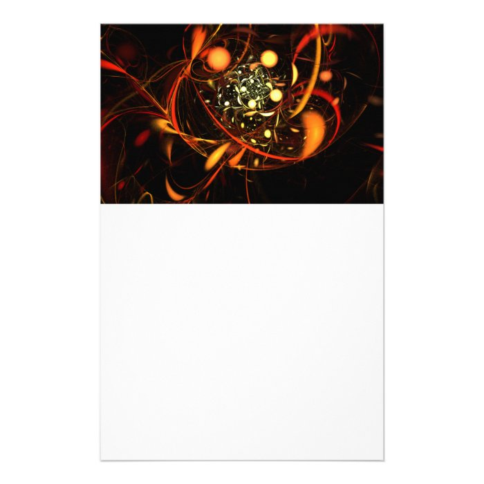 Heartbeat Abstract Art Stationery