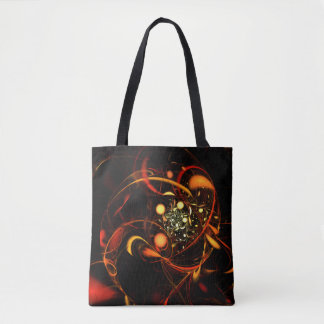 Heartbeat Abstract Art Tote Bag