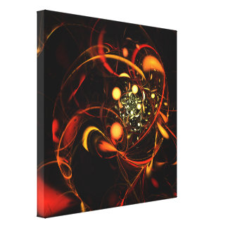 Heartbeat Abstract Art Wrapped Canvas Print