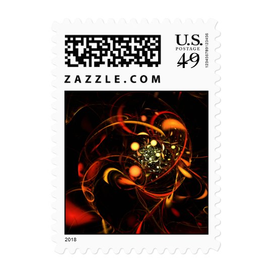 Heartbeat Abstract Postage Stamp