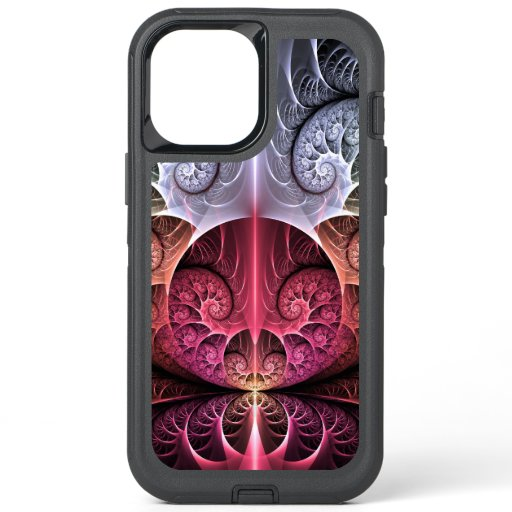 Heartbeat, Abstract Surreal Fantasy Fractal Art OtterBox Defender iPhone 12 Pro Max Case