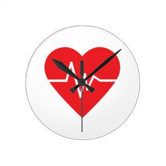 HEARTBEAT ROUND WALLCLOCK