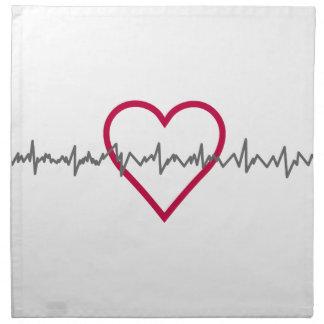 Heartbeat Cloth Napkin