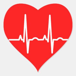 Heartbeat Heart Sticker