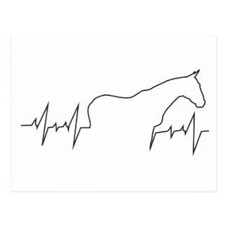Heartbeat-Horse-and-Body Postcard