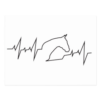 Heartbeat Horse Head Postcard