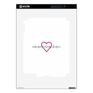 Heartbeat iPad 2 Decals